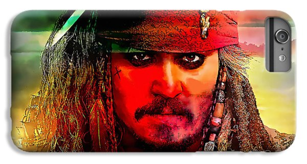 Johnny Depp Painting IPhone 6s Plus Case by Marvin Blaine