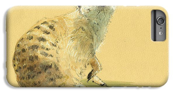 Meerkat Or Suricate Painting IPhone 6s Plus Case by Juan  Bosco