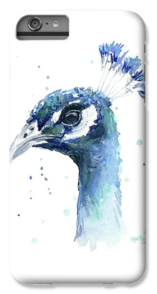 Peacock Watercolor IPhone 6s Plus Case by Olga Shvartsur