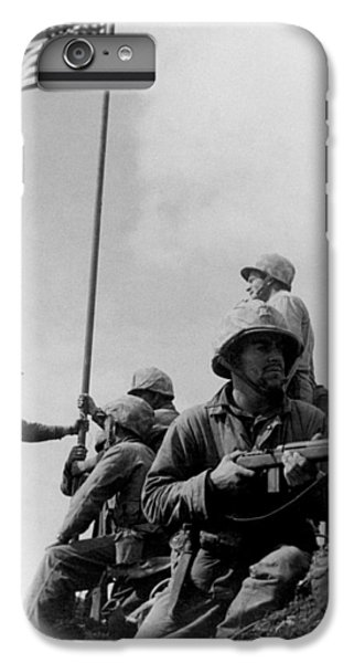 1st Flag Raising On Iwo Jima  IPhone 6s Plus Case by War Is Hell Store