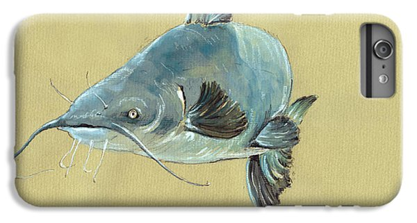 Channel Catfish Fish Animal Watercolor Painting IPhone 6s Plus Case by Juan  Bosco