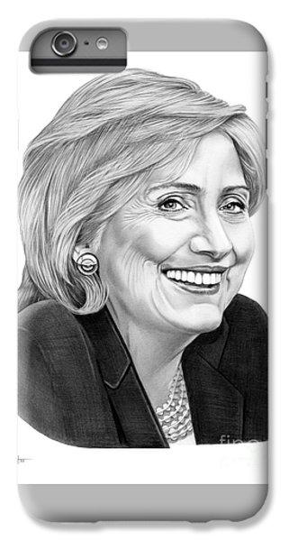 Hillary Clinton IPhone 6s Plus Case by Murphy Elliott