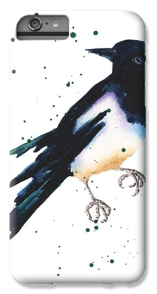 Magpie Painting IPhone 6s Plus Case by Alison Fennell