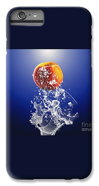 Peach Splash IPhone 6s Plus Case by Marvin Blaine