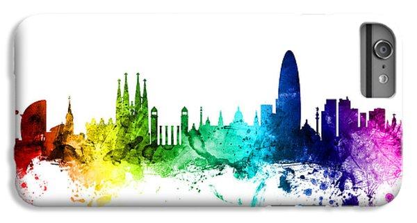 Barcelona Spain Skyline IPhone 6s Plus Case by Michael Tompsett