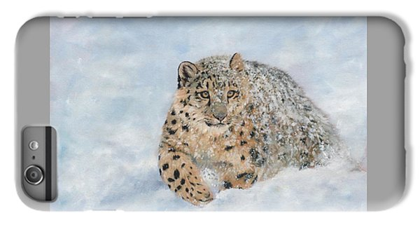 Snow Leopard IPhone 6s Plus Case by David Stribbling