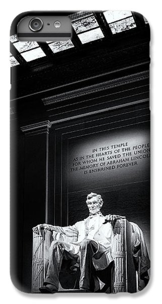 Abraham Lincoln Seated IPhone 6s Plus Case by Andrew Soundarajan