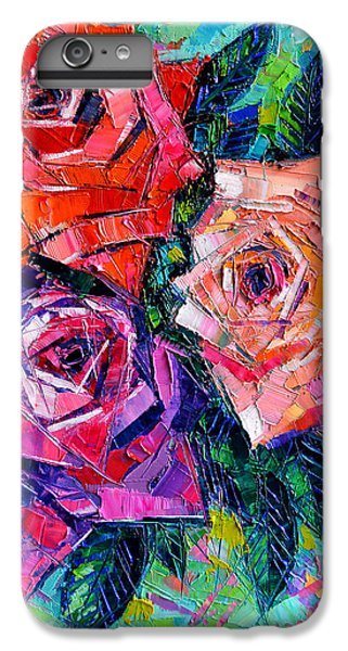 Abstract Bouquet Of Roses IPhone 6s Plus Case by Mona Edulesco