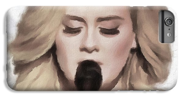 Adele Portrait Hello IPhone 6s Plus Case by Yury Malkov