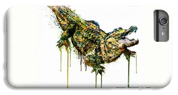 Alligator Watercolor Painting IPhone 6s Plus Case by Marian Voicu