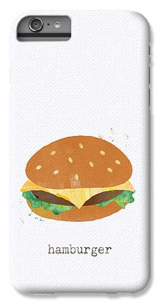 Hamburger IPhone 6s Plus Case by Linda Woods