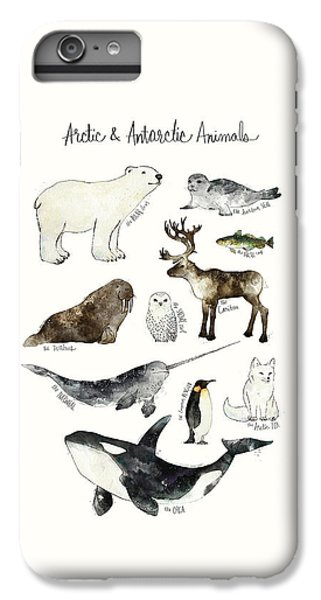 Arctic And Antarctic Animals IPhone 6s Plus Case by Amy Hamilton