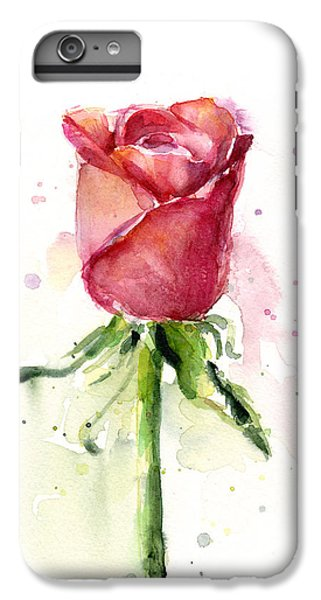 Rose Watercolor IPhone 6s Plus Case by Olga Shvartsur