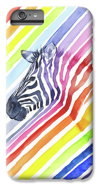 Rainbow Zebra Pattern IPhone 6s Plus Case by Olga Shvartsur