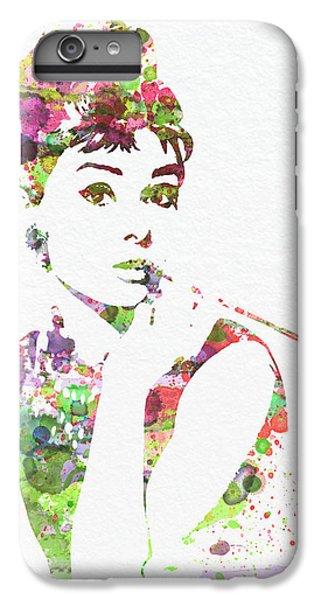 Audrey Hepburn 2 IPhone 6s Plus Case by Naxart Studio
