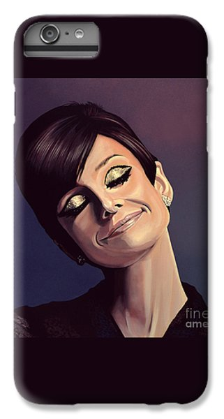 Audrey Hepburn Painting IPhone 6s Plus Case by Paul Meijering