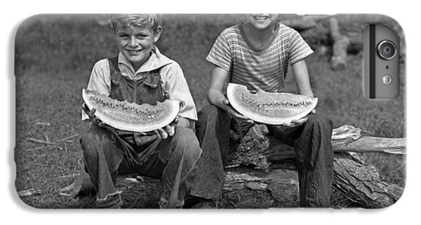 Boys Eating Watermelons, C.1940s IPhone 6s Plus Case by H. Armstrong Roberts/ClassicStock