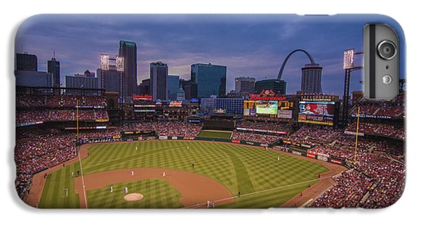 Busch Stadium St. Louis Cardinals Ball Park Village Twilight #3c IPhone 6s Plus Case by David Haskett