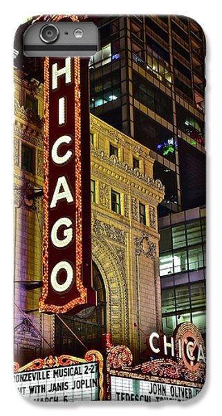 Chicago Theater Aglow IPhone 6s Plus Case by Frozen in Time Fine Art Photography