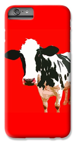 Cow In Red World IPhone 6s Plus Case by Peter Oconor
