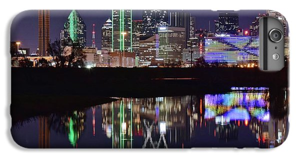 Dallas Reflecting At Night IPhone 6s Plus Case by Frozen in Time Fine Art Photography