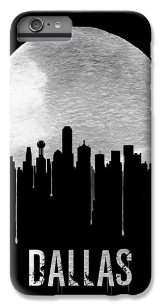 Dallas Skyline Black IPhone 6s Plus Case by Naxart Studio