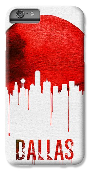 Dallas Skyline Red IPhone 6s Plus Case by Naxart Studio