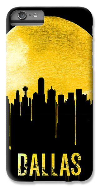 Dallas Skyline Yellow IPhone 6s Plus Case by Naxart Studio