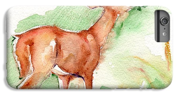 Deer Painting In Watercolor IPhone 6s Plus Case by Maria's Watercolor