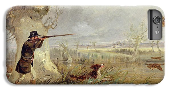 Duck Shooting  IPhone 6s Plus Case by Henry Thomas Alken