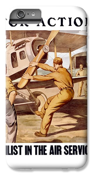 Enlist In The Air Service IPhone 6s Plus Case by War Is Hell Store