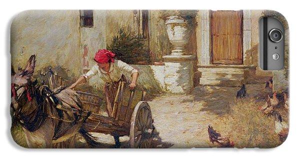 Farm Yard Scene IPhone 6s Plus Case by Henry Herbert La Thangue