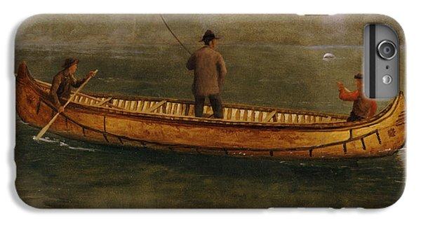 Fishing From A Canoe IPhone 6s Plus Case by Albert Bierstadt