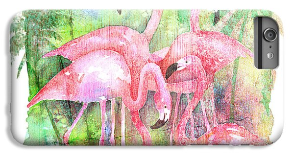 Flamingo Five IPhone 6s Plus Case by Arline Wagner