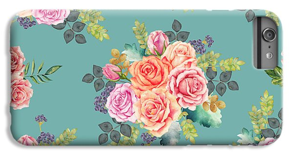 Floral Pattern 2 IPhone 6s Plus Case by Stanley Wong