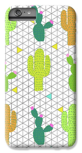 Funky Cactus IPhone 6s Plus Case by Nicole Wilson