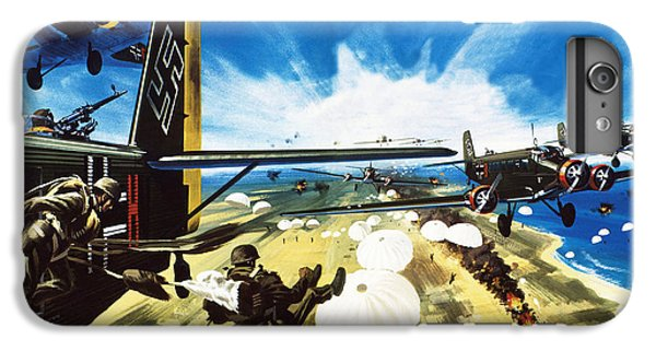 German Paratroopers Landing On Crete During World War Two IPhone 6s Plus Case by Wilf Hardy