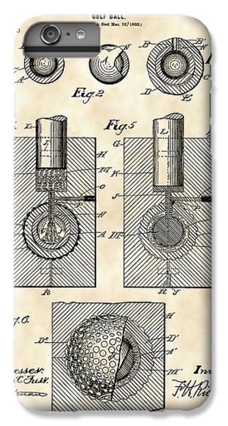Golf Ball Patent 1902 - Vintage IPhone 6s Plus Case by Stephen Younts