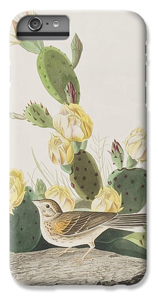 Grass Finch Or Bay Winged Bunting IPhone 6s Plus Case by John James Audubon