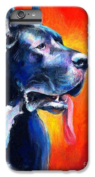Great Dane Dog Portrait IPhone 6s Plus Case by Svetlana Novikova