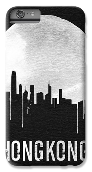 Hong Kong Skyline Black IPhone 6s Plus Case by Naxart Studio