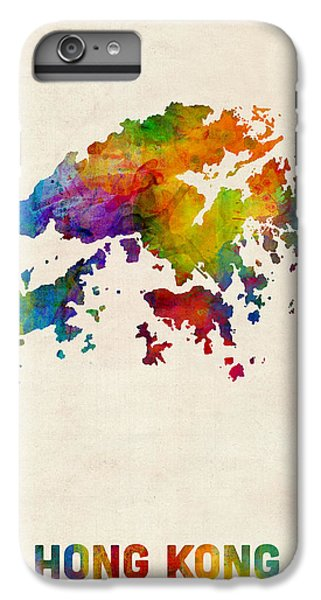 Hong Kong Watercolor Map IPhone 6s Plus Case by Michael Tompsett