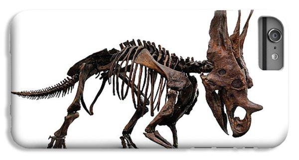 Horned Dinosaur Skeleton IPhone 6s Plus Case by Oleksiy Maksymenko