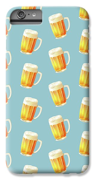 Ice Cold Beer Pattern IPhone 6s Plus Case by Little Bunny Sunshine