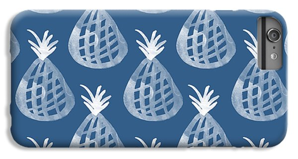 Indigo Pineapple Party IPhone 6s Plus Case by Linda Woods