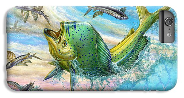 Jumping Mahi Mahi And Flyingfish IPhone 6s Plus Case by Terry Fox