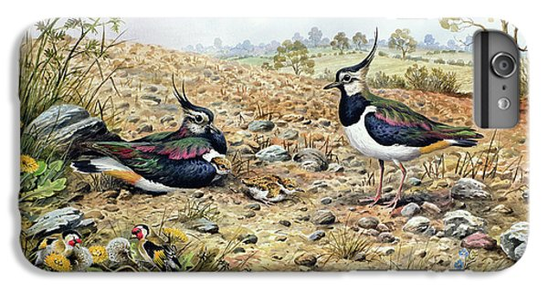 Lapwing Family With Goldfinches IPhone 6s Plus Case by Carl Donner