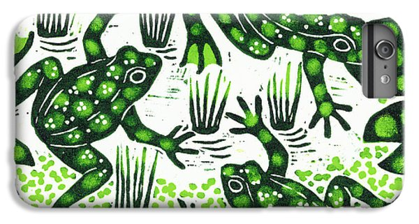 Leaping Frogs IPhone 6s Plus Case by Nat Morley