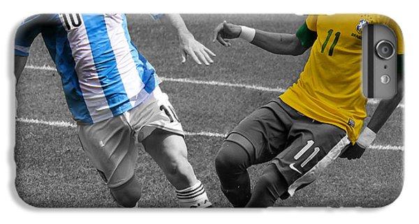 Lionel Messi And Neymar Clash Of The Titans At Metlife Stadium  IPhone 6s Plus Case by Lee Dos Santos