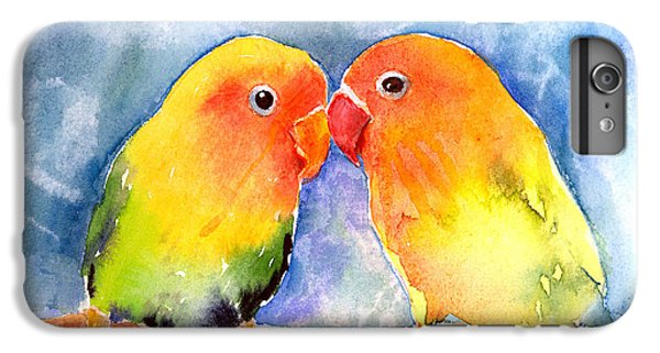 Lovey Dovey Lovebirds IPhone 6s Plus Case by Arline Wagner